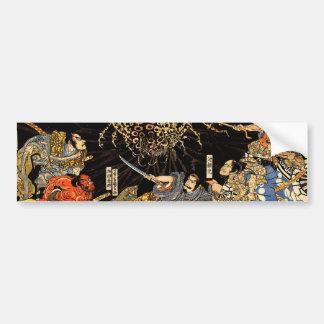 お化け蜘蛛, 国芳, araignée de monstre, Kuniyoshi, Ukiyo-e Adhésifs Pour Voiture