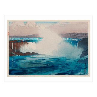 ナイアガラ瀑布, chutes du Niagara, Hiroshi Yoshida, Cartes Postales