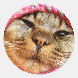 ピンク帽子のチャド STICKER ROND
