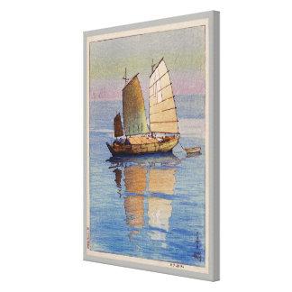 帆船夕日, lueur de soirée de bateaux à voile, Hiroshi Toiles