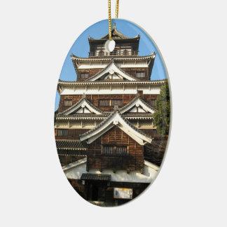広島城 de château d'Hiroshima, Hiroshima, Japon Ornement Ovale En Céramique