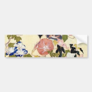 朝顔, gloire de matin de 北斎, Hokusai, Ukiyo-e Autocollant Pour Voiture