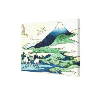 梅沢, vue le mont Fuji de 北斎 d'Umezawa, Hokusai, Toiles
