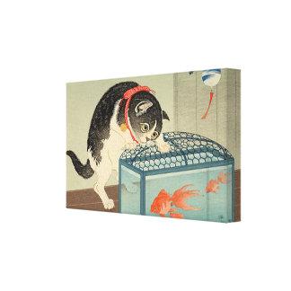 猫と金魚, chat de 古邨 et poisson rouge, Koson, Ukiyo-e Toiles