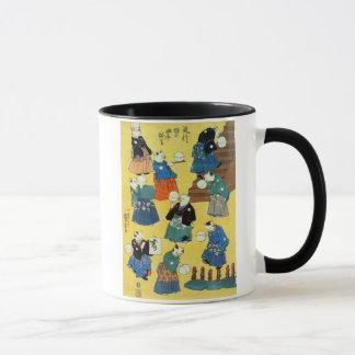 猫の曲芸師, acrobate de 国芳 des chats, Kuniyoshi, Mugs