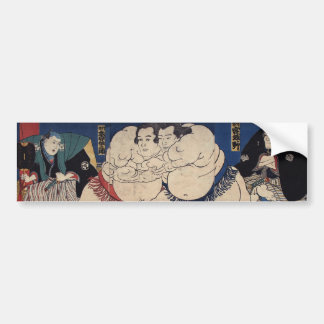 相撲, lutte de sumo de 国芳, Kuniyoshi, Ukiyo-e Adhésifs Pour Voiture