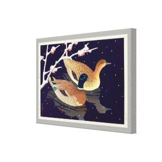 真鴨, canards de Mallard, Hasui Kawase, gravure sur Toiles