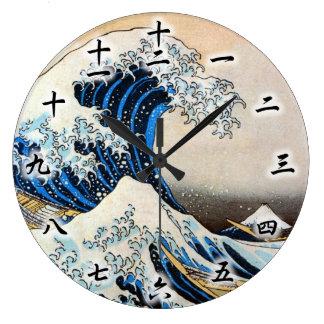 神奈川沖浪裏 grande vague de 北斎 Hokusai Ukiyo-e Horloge