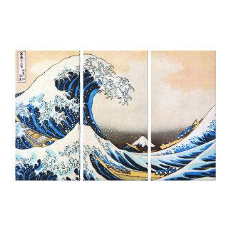 神奈川沖浪裏, grande vague de 北斎, Hokusai, Ukiyo-e Toiles