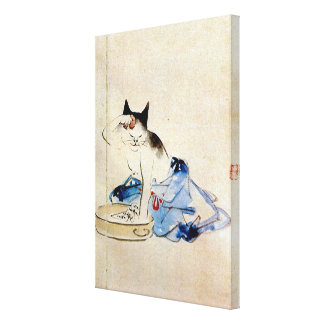顔を洗う猫, lavage de visage de chat de 広重, Hiroshige, Toiles