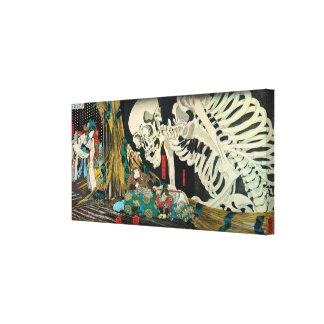 骸骨, squelette de 国芳, Kuniyoshi, Ukiyo-e Toiles