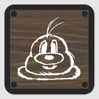 鲍鲍 en bois de panneau autocollant 3 de 1,5 pouces