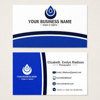 001 élégants et simples de carte nominative bleue