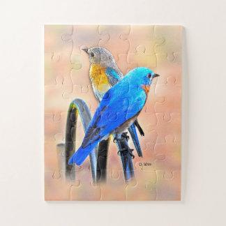 010 enfants du puzzle 11x14 d'amour d'oiseau bleu