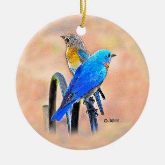 010 ornement en céramique de l'amour 2,87 d'oiseau