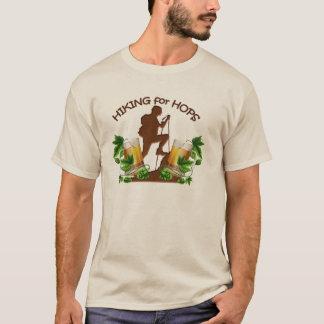 (02) Le randonnée pour la pièce en t de base de la T-shirt