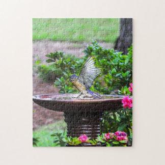030 puzzle de Bath 11x14 d'oiseau bleu 252