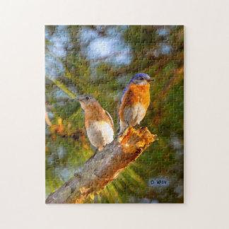040 puzzle de la cour 11x14 d'oiseau bleu 252