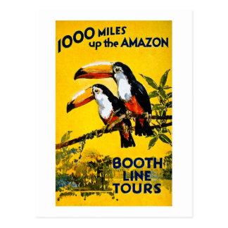 1000 milles vers le haut de l'affiche vintage de carte postale