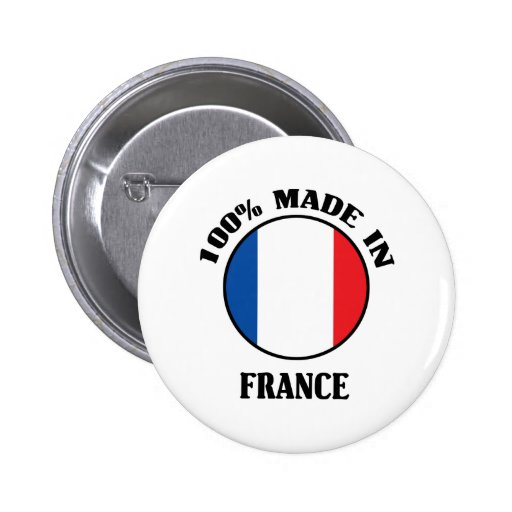 100% a fait en France Badge Avec Épingle