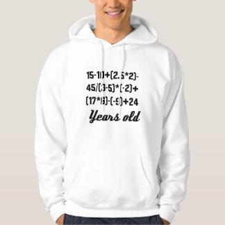 100 années d'équation de maths veste à capuche