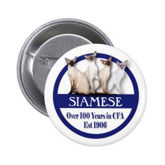 100 années siamoises de bouton badge
