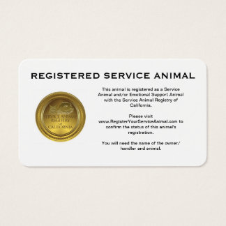 100 cartes de visite enregistrés d'animal de