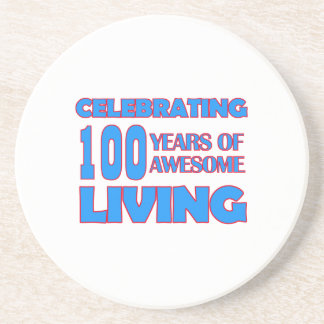 100 conceptions d'anniversaire d'années dessous de verres