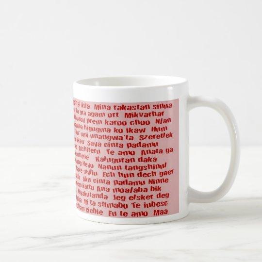 100 manières de dire je t'aime mug