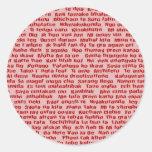 100 manières de dire je t'aime sticker rond