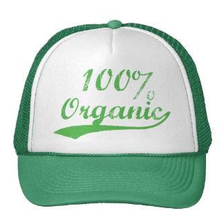 100% organique casquettes