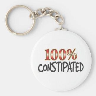 100 pour cent constipés porte-clé rond
