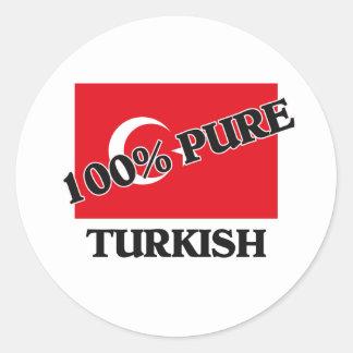 100 pour cent de TURC Sticker Rond