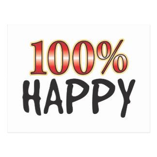 100 pour cent heureux cartes postales