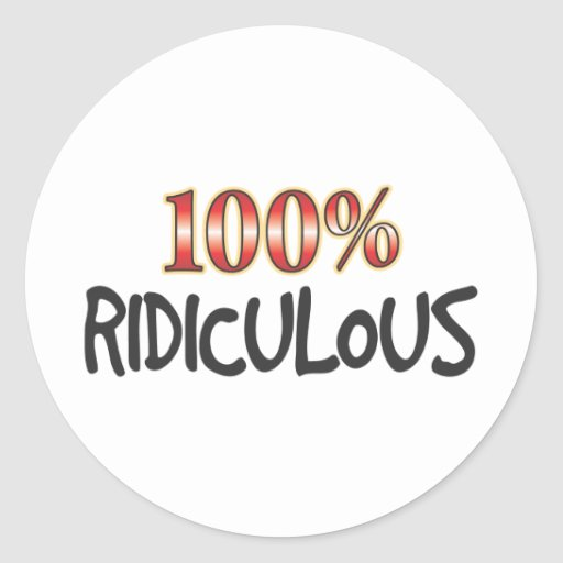 100 pour cent ridicules adhésif rond