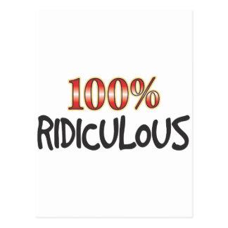 100 pour cent ridicules carte postale