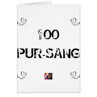 100 PUR-SANG - Jeux de Mots - Francois Ville Carte De Vœux
