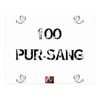 100 PUR-SANG - Jeux de Mots - Francois Ville Carte Postale