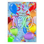 100th anniversaire - carte d'anniversaire de ballo