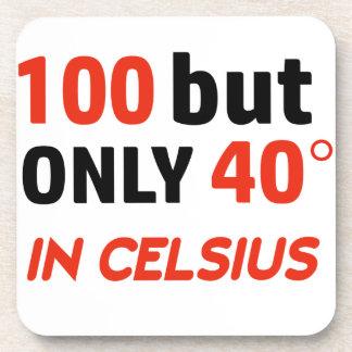 100th conception drôle d'anniversaire dessous-de-verre