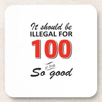 100th conceptions an drôles d'anniversaire dessous-de-verre