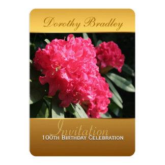 100th Invitation de rhododendron de célébration