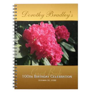 100th Livre d'invité de rhododendron de Carnet