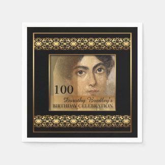 100th Serviettes de papier de photo de célébration