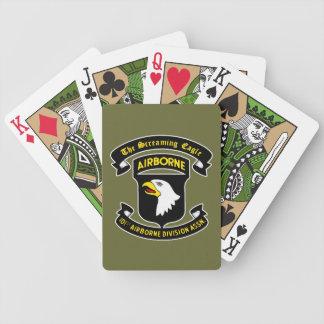 101st Cartes de jeu criardes aéroportées de correc Cartes De Poker