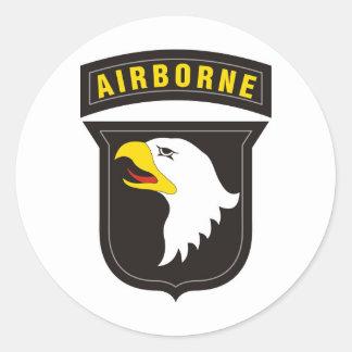 101st Emblème criard aéroporté d'Eagle Sticker Rond