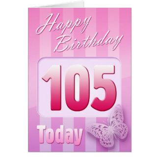 105th maman heureuse de grand-tante de grand-mère carte de vœux