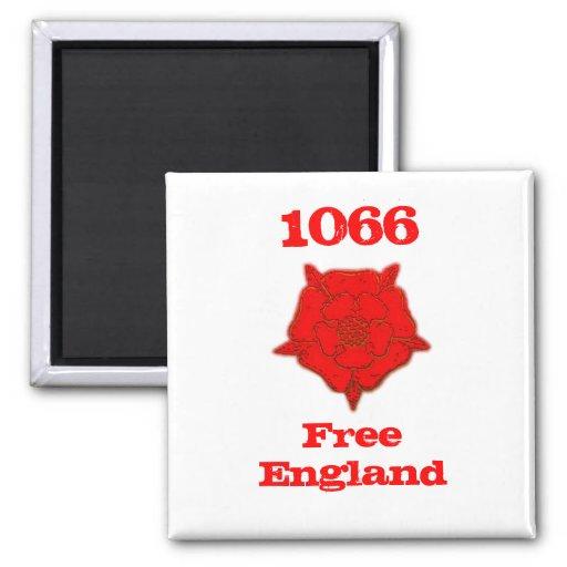 1066 - L'Angleterre libre Aimant Pour Réfrigérateur