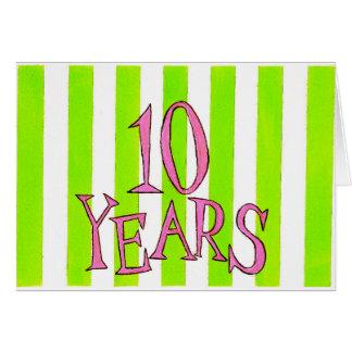 10 ans carte d'anniversaire/anniversaire de