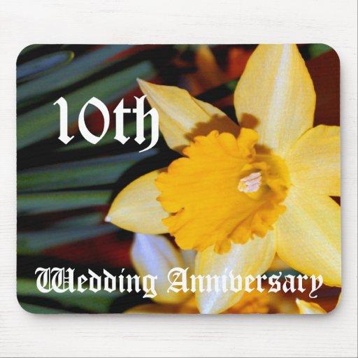 10ème anniversaire de mariage - jonquille tapis de souris